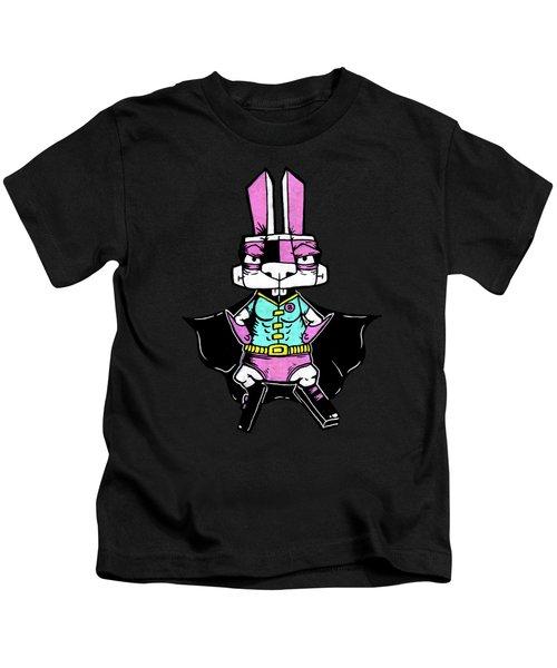 Wonder Bunny Kids T-Shirt by Bizarre Bunny
