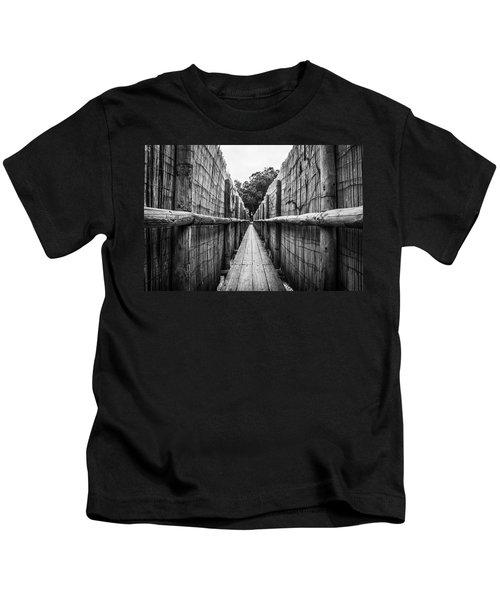 Wooden Walkway. Kids T-Shirt