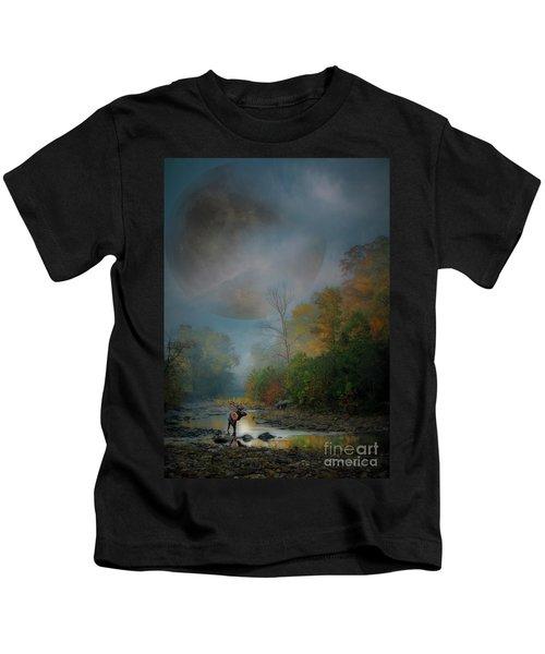 Woodland Elk Kids T-Shirt