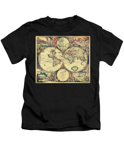 World Map 1689 Kids T-Shirt