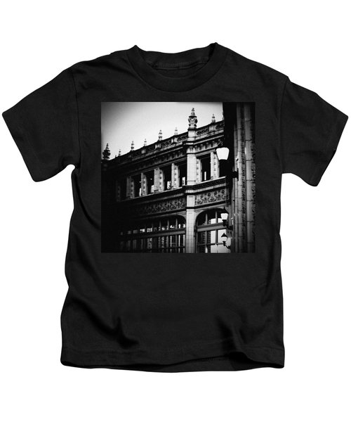 Wrigley Building Square Kids T-Shirt
