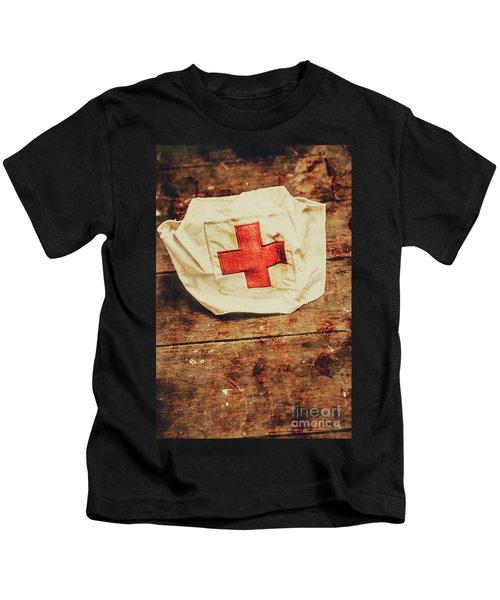 Ww2 Nurse Hat. Army Medical Corps Kids T-Shirt