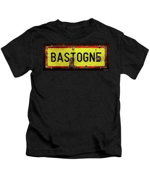 Wwii Bastogne Town Sign Kids T-Shirt