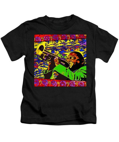 Wynton Marsalis Plays Louis Armstrong Rework Kids T-Shirt