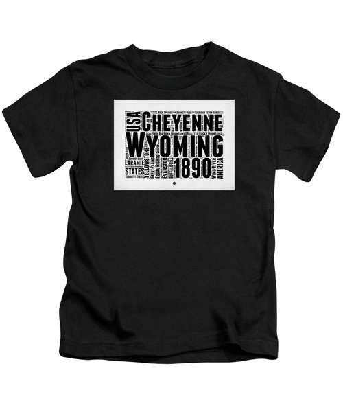 Wyoming Word Cloud Map 2 Kids T-Shirt