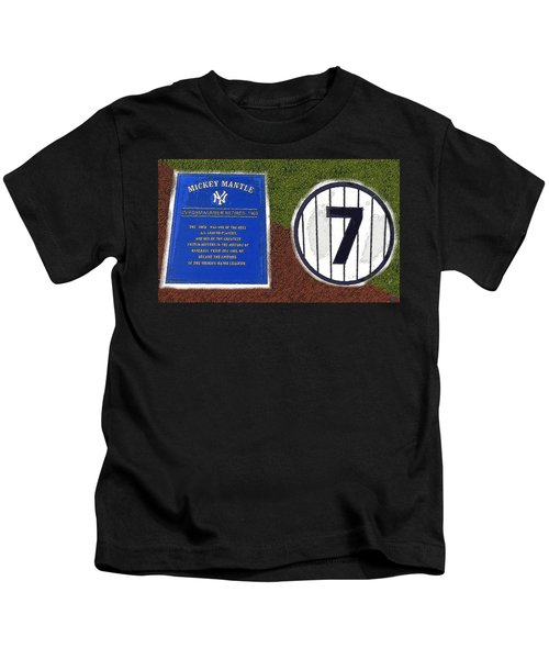 Yankee Legends Number 7 Kids T-Shirt by David Lee Thompson