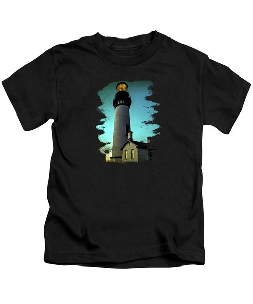 Yaquina Head Lighthouse At Sunset Kids T-Shirt