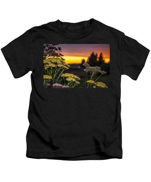 Yarrow At Sunset Kids T-Shirt