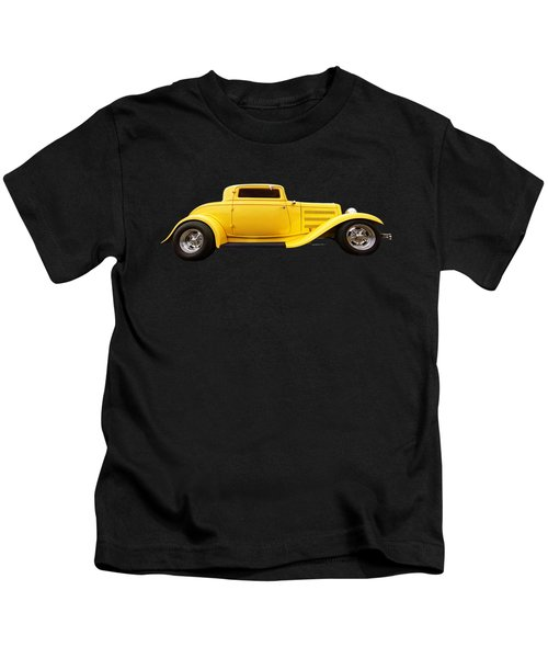 Yellow 32 Ford Deuce Coupe Kids T-Shirt
