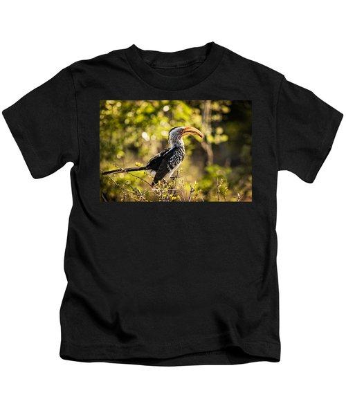 Yellow-billed Hornbill Kids T-Shirt