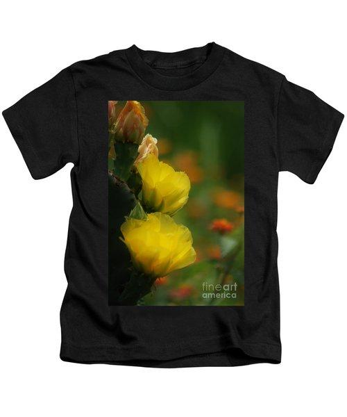 Yellow Cactus Flower Kids T-Shirt