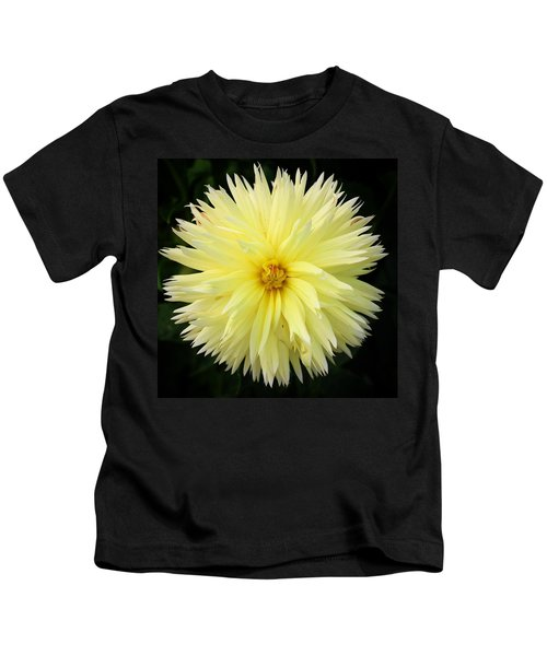 Yellow Dahlia Kids T-Shirt