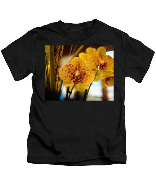 Yellow Orchis Kids T-Shirt