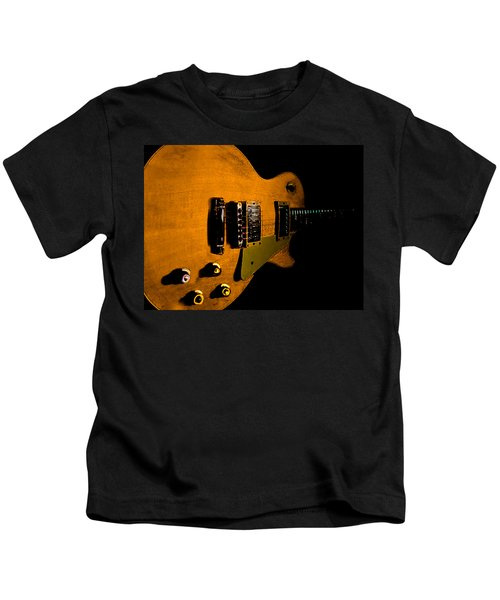 Yellow Relic Guitar Hover Series Kids T-Shirt