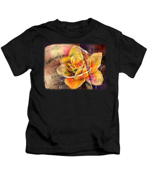 Yellow Rose Of Texas Kids T-Shirt