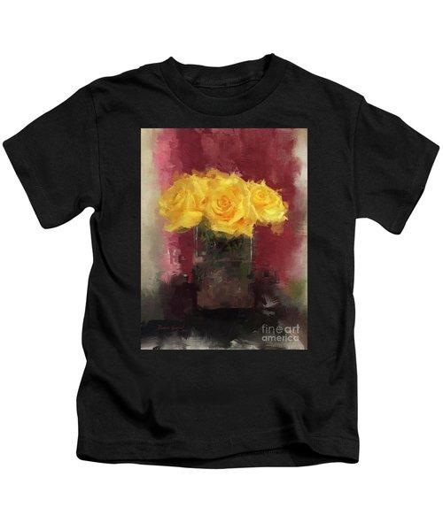 Yellow Roses Kids T-Shirt