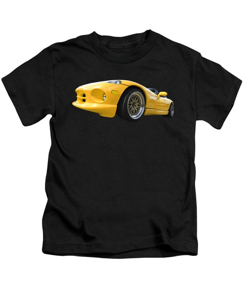 Yellow Viper Rt10 Kids T-Shirt by Gill Billington