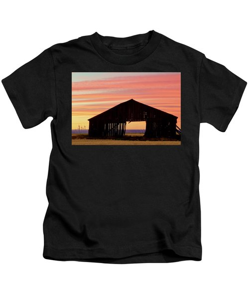 Yesterday And Today At Sunset Kids T-Shirt