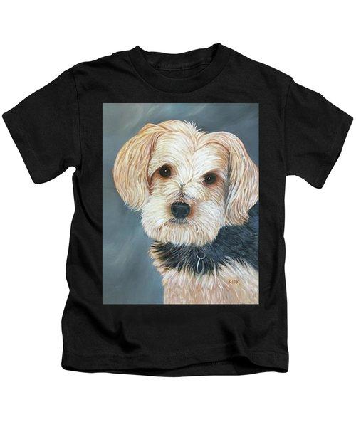 Yorkie Portrait Kids T-Shirt