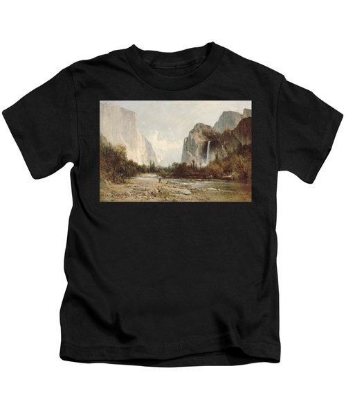Yosemite Bridal Veil Falls Kids T-Shirt