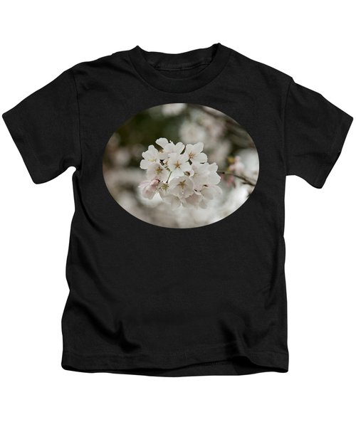 Yoshino Cherry Blossoms Kids T-Shirt