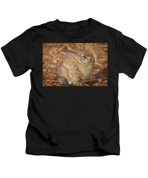 Young Cottontail In The Morning Kids T-Shirt