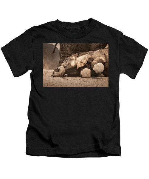 Young Elephant Lying Down Kids T-Shirt