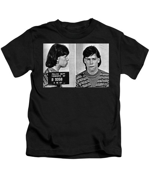 Young Steven Tyler Mug Shot 1963 Pencil Photograph Black And White Kids T-Shirt