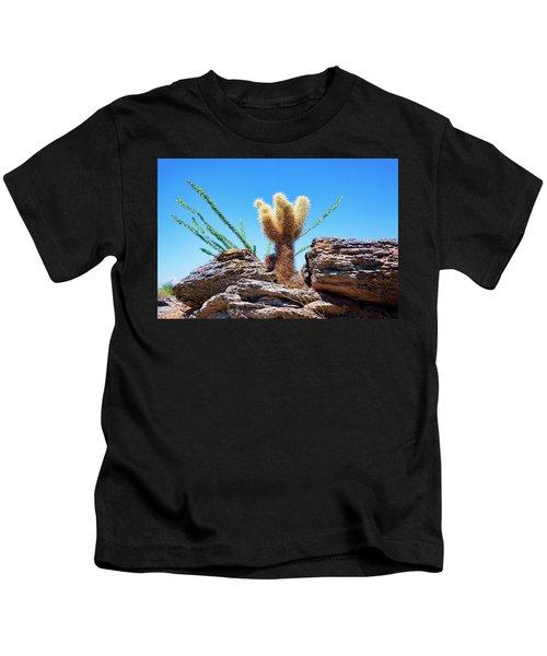 Young Teddy Bear Cholla Kids T-Shirt