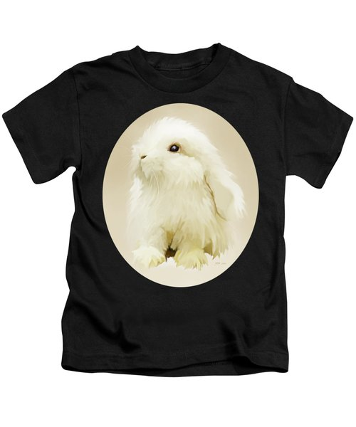Young White Rabbit Kids T-Shirt