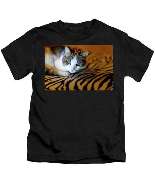 Zebra Cat Kids T-Shirt