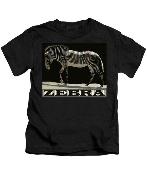 Zebra Design By John Foster Dyess Kids T-Shirt