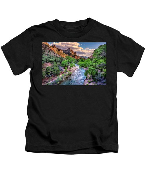 Zion Canyon At Sunset Kids T-Shirt