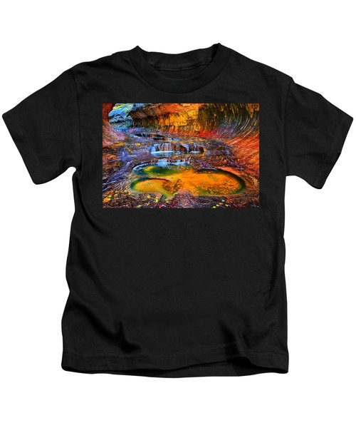 Zion Subway Falls Kids T-Shirt