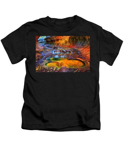 Zion Subway Falls Kids T-Shirt