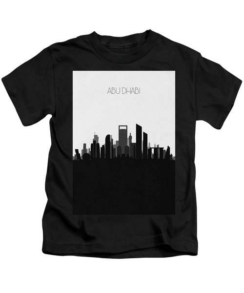 Abu Dhabi Cityscape Art V2 Kids T-Shirt