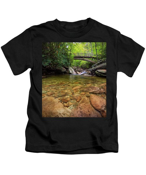 Boone Fork Bridge - Blue Ridge Parkway - North Carolina Kids T-Shirt