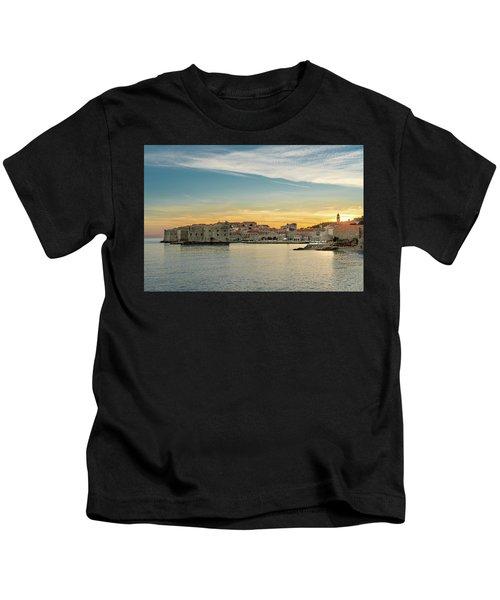 Dubrovnik Old Town At Sunset Kids T-Shirt
