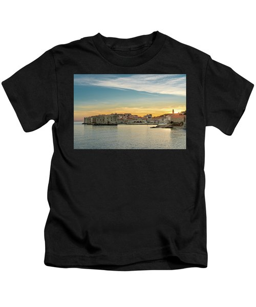 Dubrovnik Old Town At Sunset Kids T-Shirt