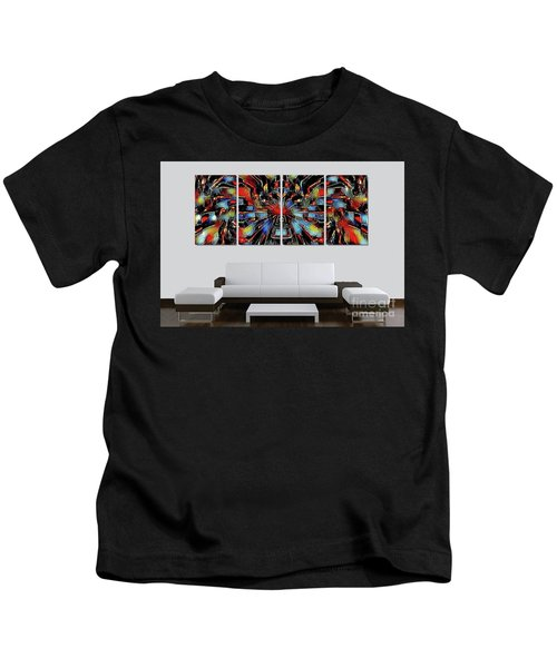 Funny Abstract Overlay Kids T-Shirt