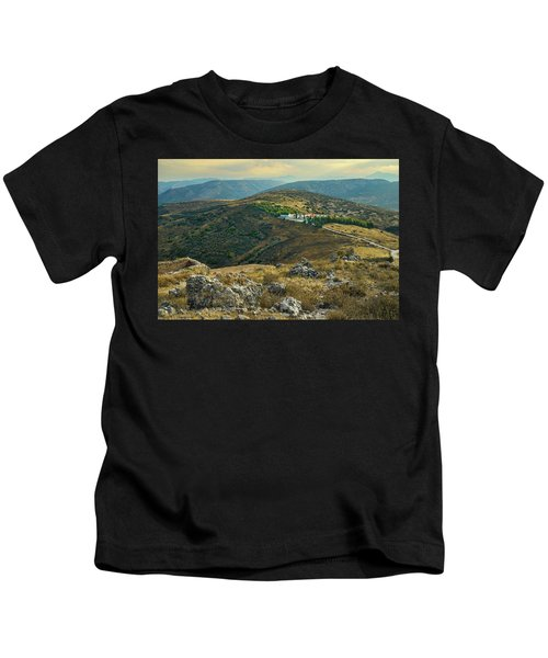 Monastery Agion Anargiron Above Argos Kids T-Shirt