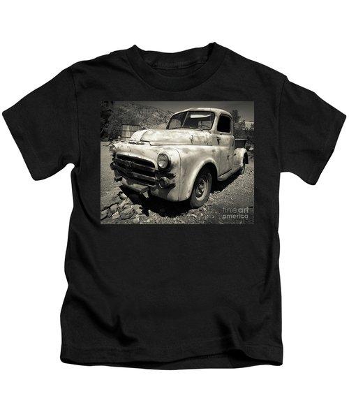 Old Dodge Truck In The Desert Kids T-Shirt