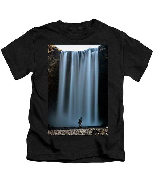 Amongst Giants Skogafoss Iceland Kids T-Shirt