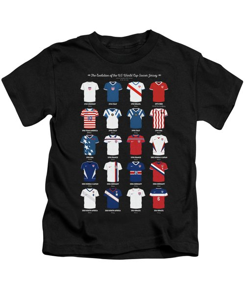 The Evolution Of The Us World Cup Soccer Jersey Kids T-Shirt