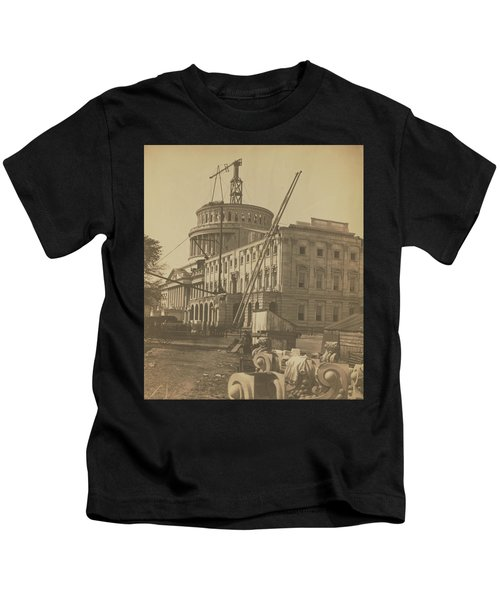 United States Capitol Under Construction Kids T-Shirt