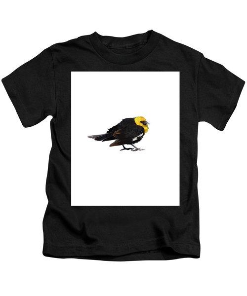 Yellow Headed Blackbird   Kids T-Shirt