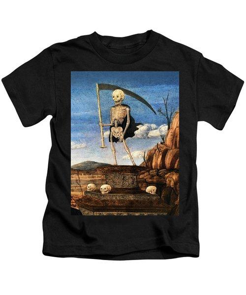 15th Century Skeleton Painting Kids T-Shirt