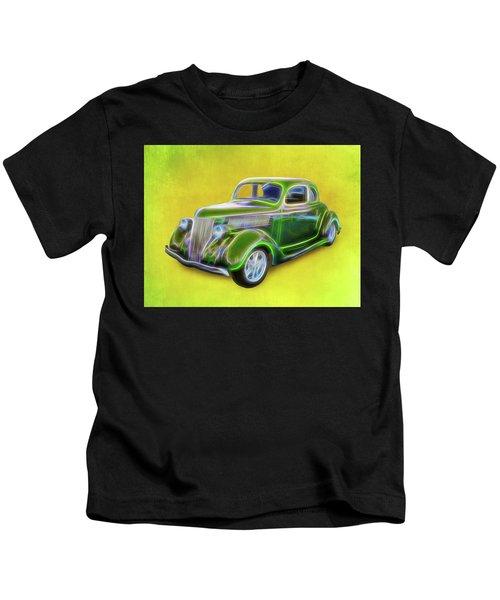 1936 Green Ford Kids T-Shirt