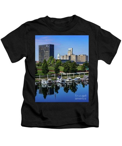 Augusta Ga - Savannah River Kids T-Shirt