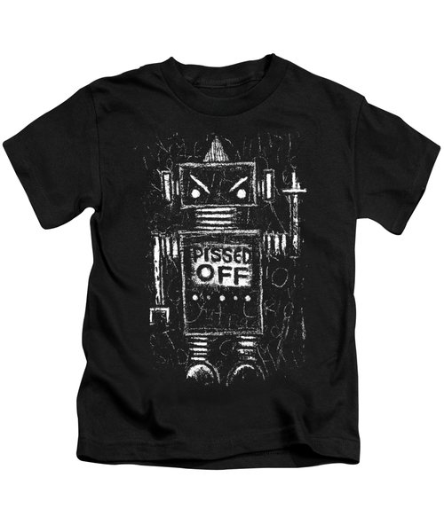 Pissed Off Bot Graphic Kids T-Shirt